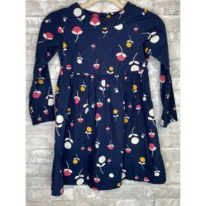 Hanna  Andersson Navy Floral Dress Size 8 (130)